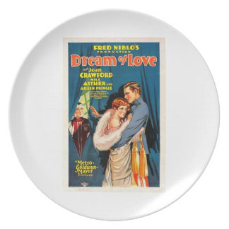 Joan Crawford Nils Asther 1928 silent movie Dinner Plate