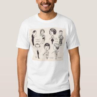 Joan Crawford Norma Shearer caricatures T-shirts