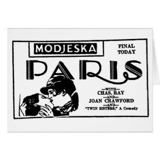 Joan Crawford PARIS 1926 Greeting Card