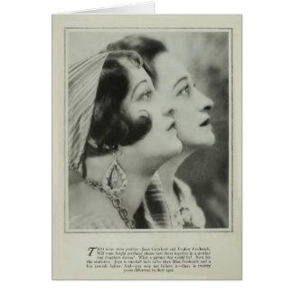 Joan Crawford/Pauline Frederick 1929 portrat card