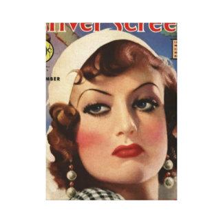 Joan Crawford Rain movie magazine cover Canvas Print