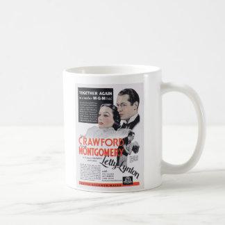 Joan Crawford Roberto Montgomery Letty Lynton Taza De Café