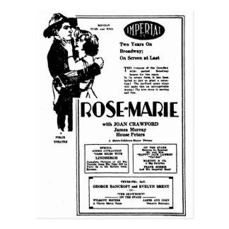 Joan Crawford Rose-Marie 1928 Post Cards