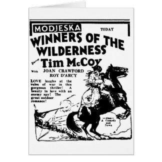 Joan Crawford Western movie 1927 Greeting Card
