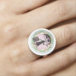 joan didion is my power animal (w sacred g) ring