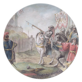 Joan of Arc (1412-31) Orders the English to Leave Plate