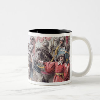 Joan of Arc (1412-31) Orders the English to Leave Two-Tone Coffee Mug