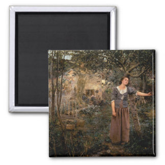 joan of arc 2 inch square magnet