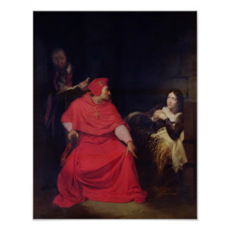 Joan of Arc  and the Cardinal of Winchester Poster