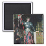 Joan of Arc  at the Coronation of King Charles 2 Inch Square Magnet