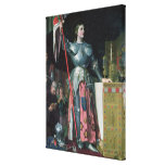 Joan of Arc  at the Coronation of King Charles Canvas Print