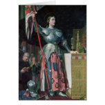 Joan of Arc  at the Coronation of King Charles Greeting Card