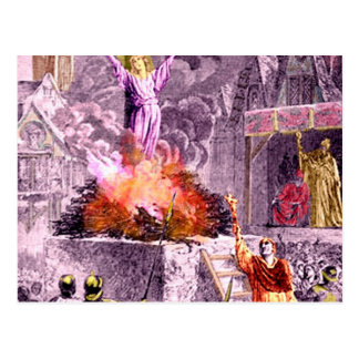 Joan of Arc Burns Postcard
