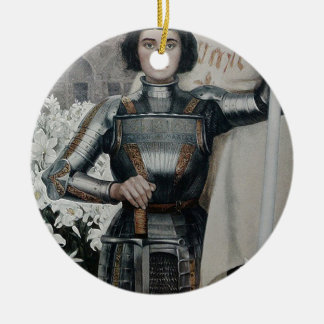Joan of Arc by Albert Lynch Double-Sided Ceramic Round Christmas Ornament