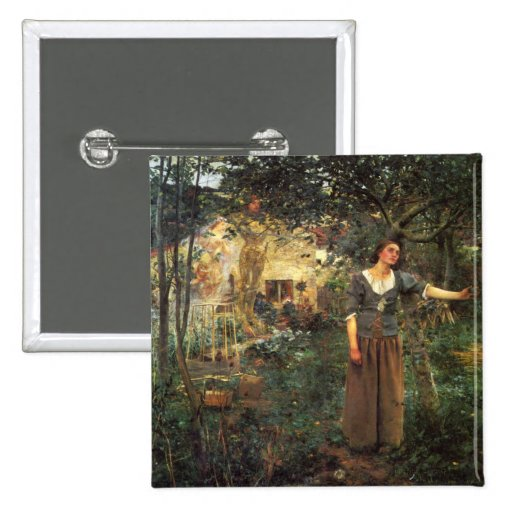 Joan of Arc by Jules Bastien Lepage 2 Inch Square Button