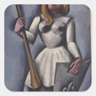 Joan of Arc by Odilon Redon Stickers