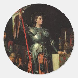 Joan of Arc Classic Round Sticker