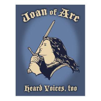 Joan of Arc Heard Voices Postcard