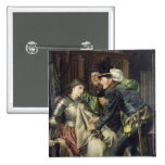Joan of Arc  Insulted in Prison, 1866 Pinback Button