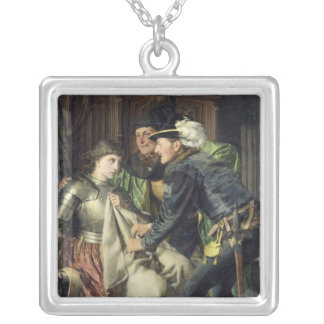 Joan of Arc  Insulted in Prison, 1866 Silver Plated Necklace