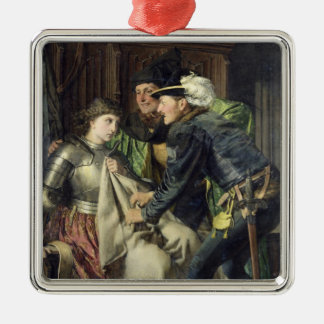 Joan of Arc  Insulted in Prison, 1866 Square Metal Christmas Ornament