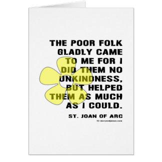 Joan of Arc Kindess Card