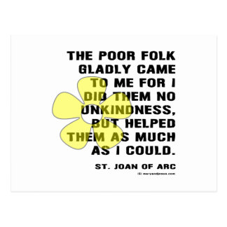 Joan of Arc Kindess Postcard