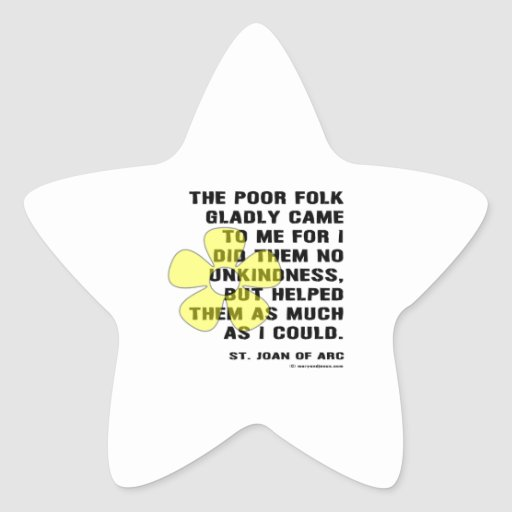 Joan of Arc Kindess Star Stickers