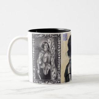 Joan of Arc Two-Tone Coffee Mug