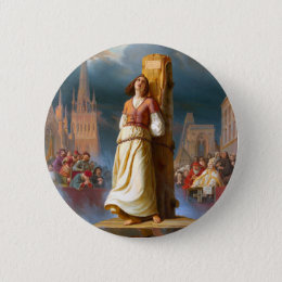 Joan of Arc Pinback Button