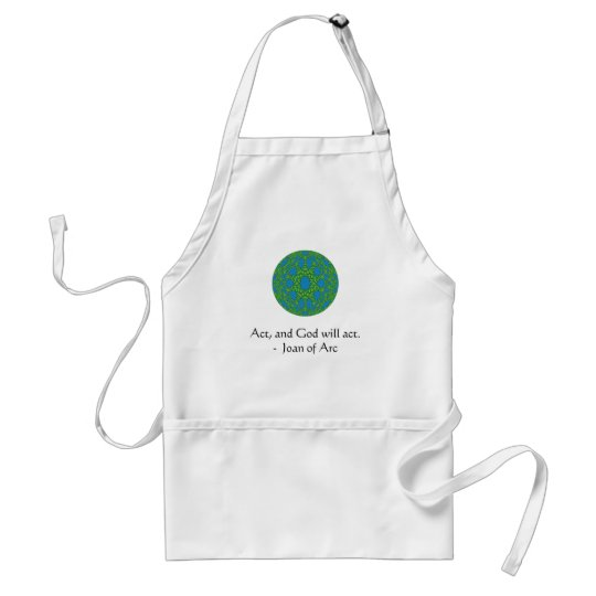 Joan of Arc Quote With Amazing Design Adult Apron