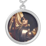 Joan of Arc Round Pendant Necklace