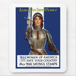 Joan of Arc Saved France -- WWI Mouse Pad