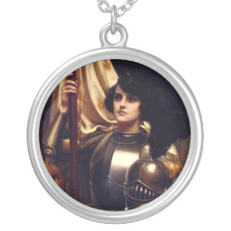 Joan of Arc Silver Plated Necklace