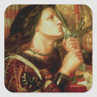 Joan of Arc Square Sticker