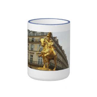Joan of Arc statue in Paris France mug Ringer Mug