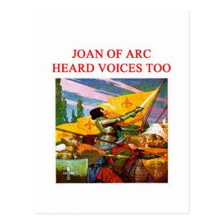 joan of arc voice psycho design post card