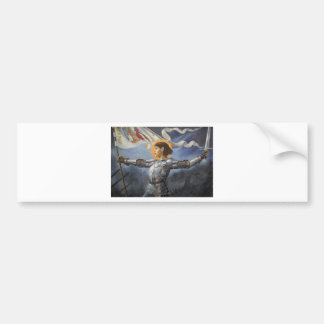 Joan of Arc with banner Bumper Sticker