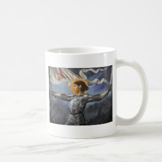 Joan of Arc with banner Coffee Mug