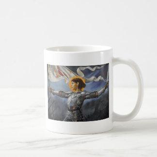 Joan of Arc with banner Mug