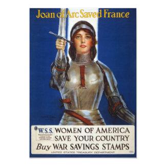 Joan of Arc World War I Buy War Saving Stamps 5x7 Paper Invitation Card