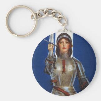 Joan of Arc World War I Buy War Saving Stamps Basic Round Button Keychain