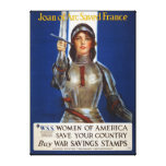 Joan of Arc World War I Buy War Saving Stamps Gallery Wrapped Canvas