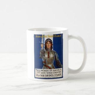 Joan of Arc World War I Buy War Saving Stamps Classic White Coffee Mug