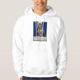 Joan of Arc World War I Buy War Saving Stamps Hooded Pullover