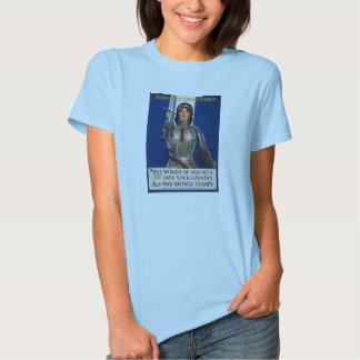 Joan of Arc World War I Buy War Saving Stamps Tshirts