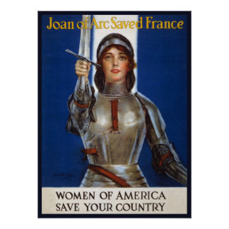 Joan of Arc, WPA  Feminist Women Rights Posters