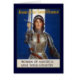 Joan of Arc WPA French American Feminism Ads Pinup