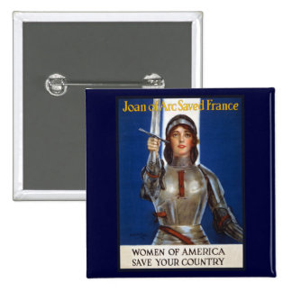 Joan of Arc WPA French American Feminism Ads Pinup Pins