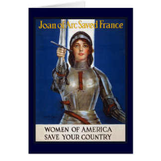 Joan of Arc WPA French American Feminism Ads Pinup Card